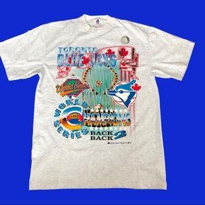 Toronto Blue Jays 1993 champions grey T-shirt L
